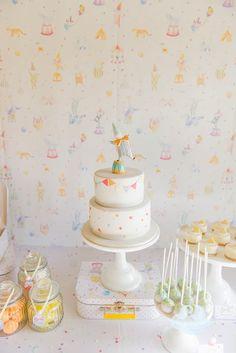 Mesa dulce con temática circo en Tonos Pastel