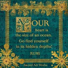 Rumi-from Sacred Art Works Rumi Love Quotes, Yoga Quotes, Wisdom Quotes, Words Quotes, Wise Words, Life Quotes, Inspirational Quotes, Sayings, Reality Quotes