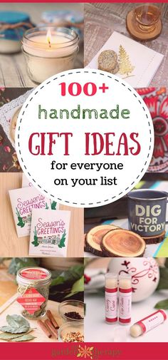Ideas More than 100 Handmade Gift Ideas - full tutorials, project plans, printables and more!More than 100 Handmade Gift Ideas - full tutorials, project plans, printables and more! Diy Holiday Gifts, Handmade Christmas Gifts, Homemade Christmas, Christmas Diy, Natural Christmas, Christmas Quotes, Christmas Decorations, Diy Gifts Cheap, Easy Handmade Gifts
