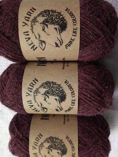 Purple sock yarn set 3x50g 100% Natural WOOL. Great for