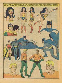 Super Friends! Model sheet.