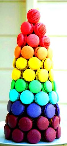 #Rainbow #colors ❖de l'arc-en-ciel❖❶ToniK Colorful #macaroon tower