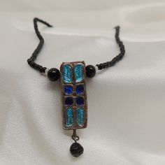 Vintage DoubleSided Enamel Pendant by DesignsbyAlladania on Etsy, $6.00