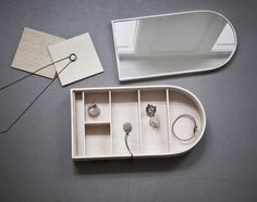 We're glad to present Jewellery Box by German-born, Copenhagen-based designer Theresa Arns. Her sleak design has a simple and geometric expression and a.
