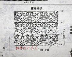 Crochetando com Maria Mantovani: Cardigan com gráfico ...