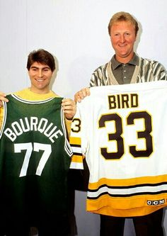 Larry with Ray Bourque.