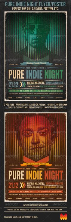 Pure Indie Night Flyer / Poster - GraphicRiver Item for Sale