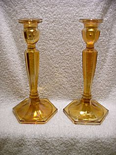 Online Antique and Collectibles Mall - over a half-million vintage antiques and collectible items for sale on-line. Candelabra, Candlesticks, Antique Dishes, Beautiful Candles, Fenton Glass, Candlestick Holders, Colored Glass, 1920s, Vintage Antiques