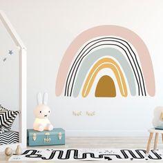 Trendy Bohemia Pink Rainbow - Removable Wall DecalMedium 60x40cm / Style B