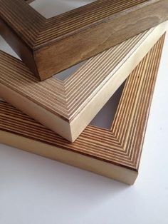 Handmade Birch Plywood Frames by Workshop Honey on Etsy.                                                                                                                                                                                 More