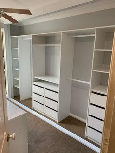 Bedroom Built In Wardrobe, Bedroom Closet Design, Master Bedroom Closet, Wardrobe Storage, Bedroom Wardrobe, Wardrobe Closet, Home Room Design, Closet Renovation, Closet Remodel