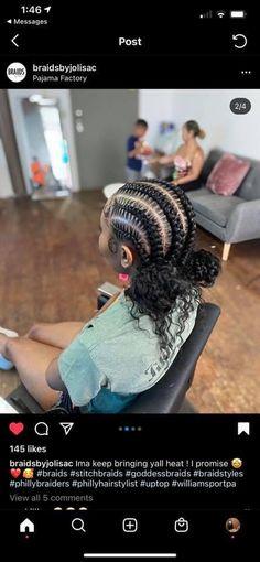 Box Braids Hairstyles For Black Women, Weave Ponytail Hairstyles, African Braids Hairstyles, Baddie Hairstyles, Braids For Black Hair, Half Colored Hair, Kimberly Hair, Braids With Curls, Box Braids Styling