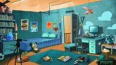 Animation Background by Amin Daud, via Behance