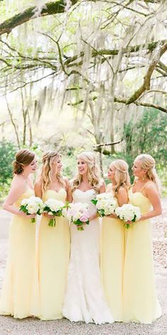 On Sale Nice Pretty Bridesmaid Dresses Pretty Light Yellow Spaghetti Strap Sweet Heart Long Bridesmaid Dresses Pale Yellow Bridesmaid Dresses, Pale Yellow Weddings, Bridesmaid Dresses 2018, Lilac Wedding, Wedding Bridesmaids, Dream Wedding, Wedding Day, Yellow Dress Wedding, Yellow Wedding Colors
