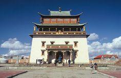 Gandan-Kloster Big Ben, Building, Mongolia, Round Trip, Destinations, Viajes, Buildings, Construction