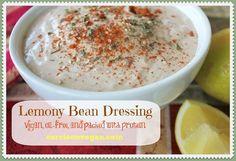 Lemony Bean Salad Dressing from Carrie on Vegan | www.carrieonvegan.com