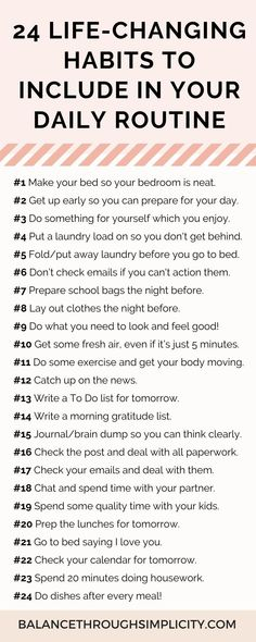 Many people struggle with getting everything done during the day and still finding time for themselves. If this sounds familiar, check out these 24 simple daily habits to make life easier, get organised, be more productive and carve out free time for you. #selfcare #timemanagementtips #productivitytips #selflove #gratitude #minimalistliving #intentionalliving #simplifyyourlife #simplelivingtips #makelifeeasier #habitsandroutines #organizationtips Self Care Activities, Toddler Activities, Self Improvement Tips, Good Habits, Self Care Routine, Self Development, Personal Development, Better Life, Self Help