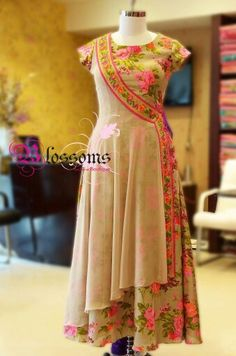 Wrap around anarkali. Anarkali Dress, Pakistani Dresses, Indian Dresses, Indian Outfits, Anarkali Suits, Salwar Designs, Blouse Designs, Stylish Dresses, Fashion Dresses