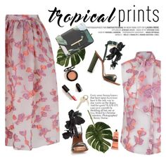 """Hot Tropics"" by punnky ❤ liked on Polyvore featuring N°21, Ted Baker, Aesop, tropicalprints and hottropics"