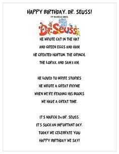 dr Suess inspired poem