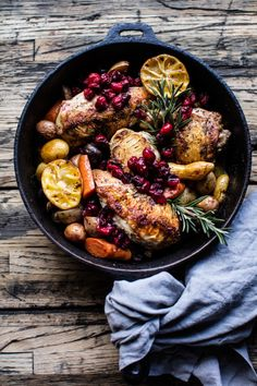 Skillet Cranberry Roasted Chicken and Potatoes | Community Post: 10 Delicious Chicken Dinners You Can Make In One Pan