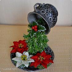 Декор предметов Новый год Вышивка Лепка Новогодняя летящая чашка Бисер Глина Кружево фото 2