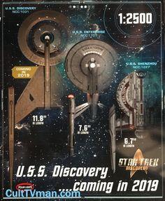 Round 2 News: Star Trek Discovery models! - Round 2 News: Star Trek Discovery models! – CultTVman's Fantastic Modeling - Star Trek Books, Star Trek Tv, New Star Trek, Star Trek Ships, Star Wars, Star Trek Enterprise Ship, Star Trek Starships, Starship Enterprise, Star Trek Online