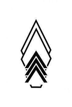 Invert, base of thigh tat - Logos Geometric Symbols, Geometric Tattoo Design, Geometric Designs, Finger Tattoos, Body Art Tattoos, Tattoo Art, Shape Tattoo, Tattoo Designs, Thigh Tat