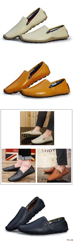 US$38.99+ Free Shipping. US Size 6.5-11.5 Men Leather Casual Outdoor Soft Slip On Flat Loafers. Men's style, chic style, fashion style. Shop at banggood with super affordable price.
