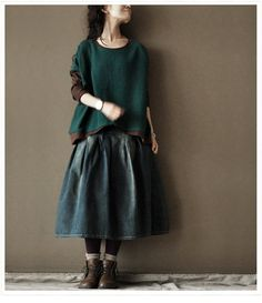 Cotton splicing  sweater by clothingshow on Etsy, $69.00