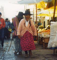 Macario au marché de Huaraz, voyage au Pérou
