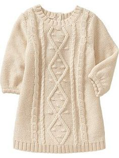 Long-Sleeve Cable Sweater Dresses for Baby | Old Navy