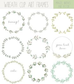 Laurel Wreath Clip Art - A set of hand drawn laurel .- Lorbeerkranz ClipArt – Eine Reihe von handgezeichneten Lorbeerkranz ClipArt Bilder perfe … Laurel Wreath Clip Art – A set of hand drawn laurel wreath clip art images … - Brosses Photoshop, Photoshop Brushes, Image Clipart, Laurel Wreath, Bullet Journal Inspiration, Doodle Art, Art Images, How To Draw Hands, Drawings
