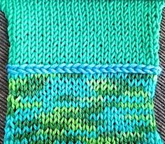 swatch of knit duality cast on - free tutorial to dwonload