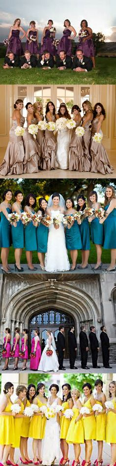 Get inspired: Gorgeous, colourful bridesmaids! #wedding