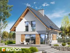 Projekt domu Dom na wzgórzu (N) - ARCHON+ Modern Barn House, Home Fashion, Bungalow, Exterior, House Design, House Styles, Outdoor Decor, Home Decor, Plants
