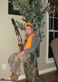 Melissa: Wow! People couldn't believe what they were seeing. Was he standing or was he sitting? My son wanted to be a hunter for Halloween, but that just seemed way to...