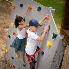 Rock climbing holds gifts for boys