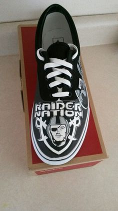 Oakland Raiders Shoe 1 Oakland Raiders Shoes, Oakland Raiders Football, 4 Life, Real Life, Raiders Stuff, Raiders Baby, Thing 1, Football Stuff, Raider Nation