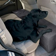 Dog Travel Accessory / Solid Foam Microfiber Backseat Extender -- Orvis from Orvis. Dog Travel Accessories, Dog Car Seats, Dog Care, Fur Babies, Your Pet, Dogs And Puppies, Animals, Diy Dog, 150 Lbs