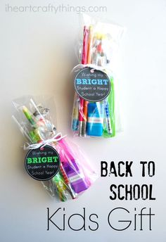 Surprise your kids with this simple and fun Back-to-School Kids Gift. Printable included in post.