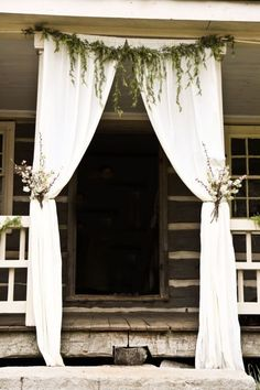 wedding, white, decoration, entrance, flowers, green, stepfs, wood, southamerica, southern style, hippie,The Story of a Seamstress: History of our Wedding Location   Wedding Decorating   Cakes