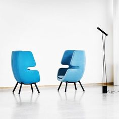 Moai Chair ready for IMM Cologne 2017. Hall: 2.2, Stand: H018 Produced by Softline, designed by Philip Bro.  #IMM #moaichair #philipbrodesign #softline #philipbro #loungechair #hideaway #unplugged