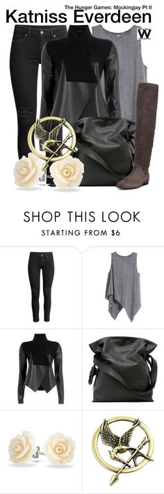 """The Hunger Games: Mockingjay Pt II"" by wearwhatyouwatch ❤ liked on Polyvore featuring H&M, Donna Karan, Loewe, Bling Jewelry, Stuart Weitzman, wearwhatyouwatch and film"