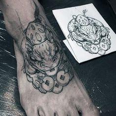Toad Tattoo Designs For Guys On Foot