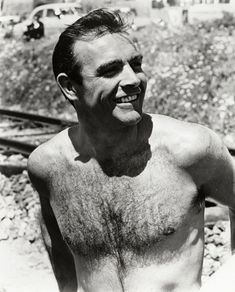 1960s Sean Connery bare chested