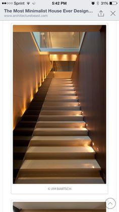 Lighting on steps