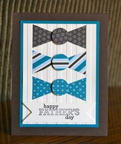 Stampin Up! Fathers Day by Krystal De Leeuw at Krystals Cards and More: Delightful Cards! Masculine Birthday Cards, Birthday Cards For Men, Masculine Cards, Male Birthday, Boy Cards, Cute Cards, Fathers Day Cards, Creative Cards, Scrapbook Cards