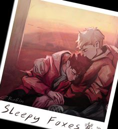 tired foxes after another game and Nicky with his polaroid and a black marker) #tfc #aftg #andreil