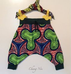 African wax print Harem Pants/Trousers for baby boys and girls by ChangNoii